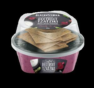 Beetroot Tzatziki with Lavosh Crackers