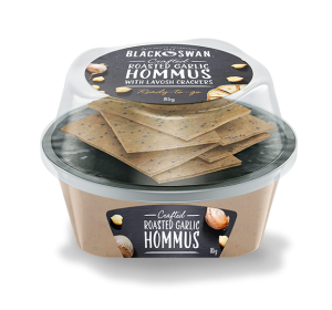 Roasted Garlic Hommus with Lavosh Crackers